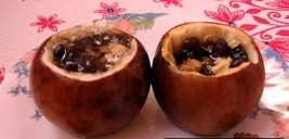 Медовые яблочки с орешками