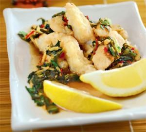 Хрустящая рыбка по-тайски