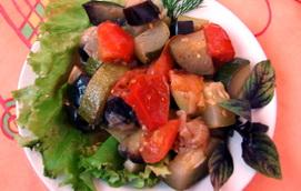 Постный рецепт тушеных овощей