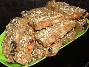 Вегетарианские квадратики или постное печенье без сахара