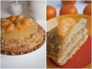 Постный тортик с медом и курагой