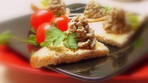 Фасолевый паштет с грибами