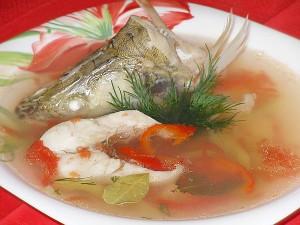 Суп с судаком, приготовленный в духовке